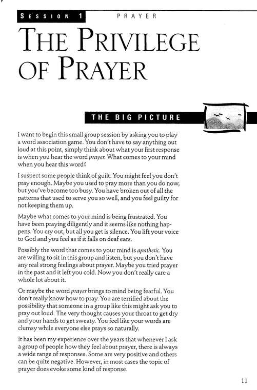 Prayer: Opening Your Heart to God,  InterActions Series