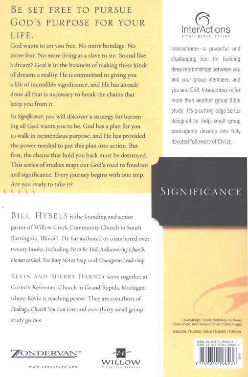 Significance: Understanding God's Purpose for Your Life, InterActions Series