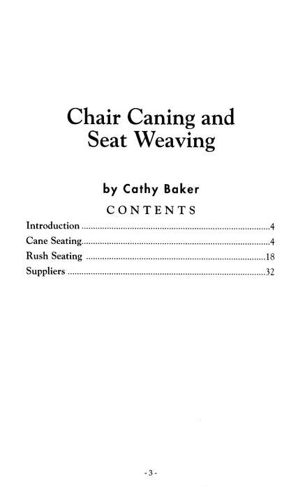 Chair Caning (A-16)