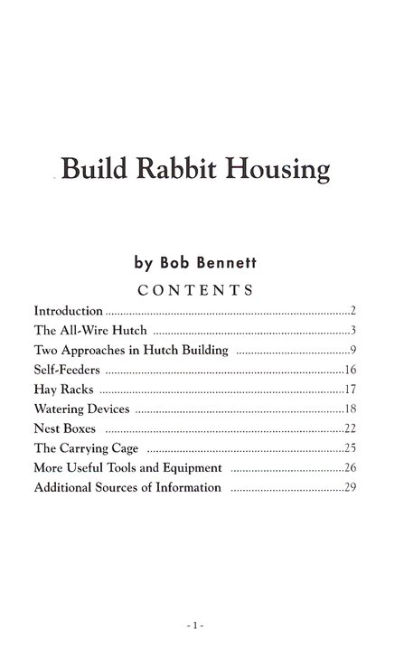 Build Rabbit House (A-82)