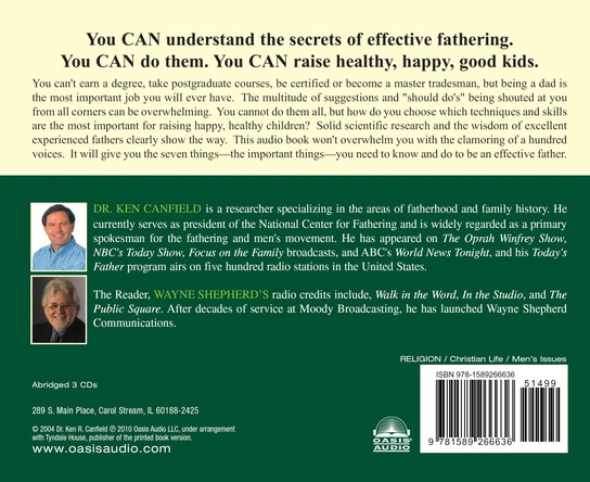 Seven Secrets of Effective Fathers               - Audiobook on CD
