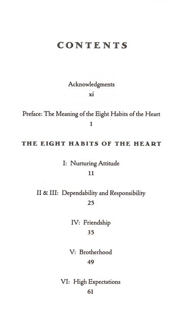 8 Habits Of The Heart