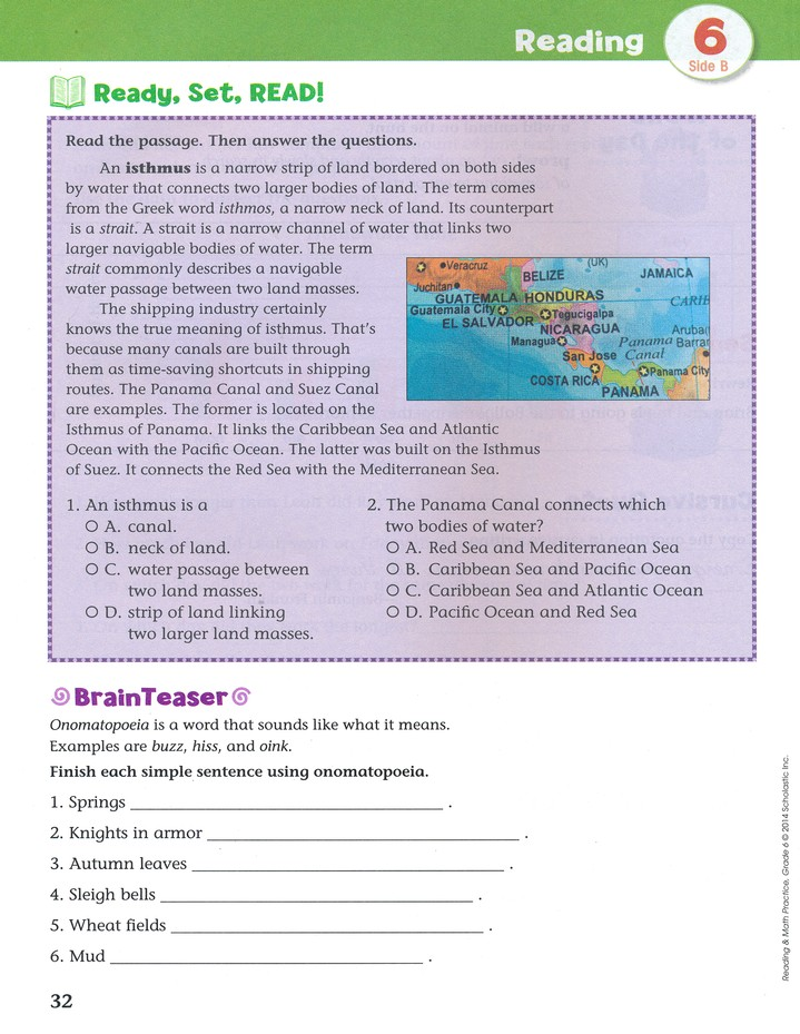 Reading and Math Practice (Grade 6) 6): 200 Teacher-Approved Practice Pages  to Build