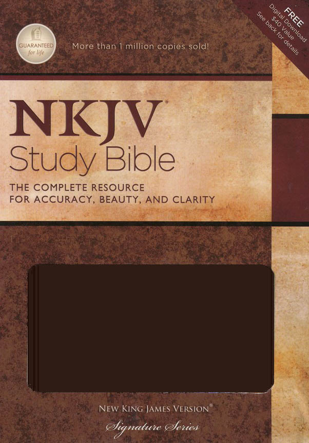 The NKJV Study Bible, Leathersoft dark chocolate, indexed