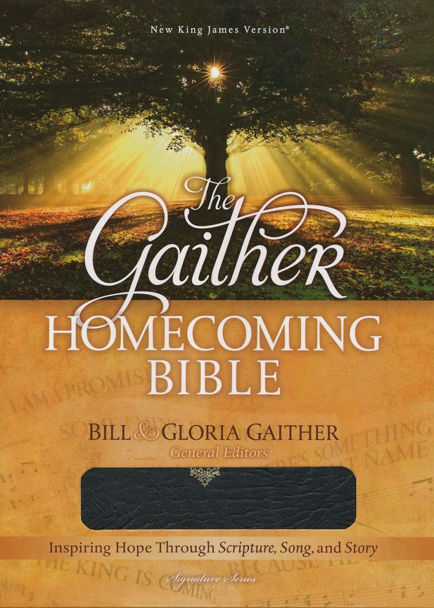 NKJV Gaither Homecoming Bible, Bonded leather, black  indexed