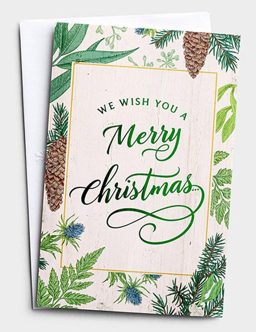 We Wish You A Merry Christmas Christmas Cards Box Of 18