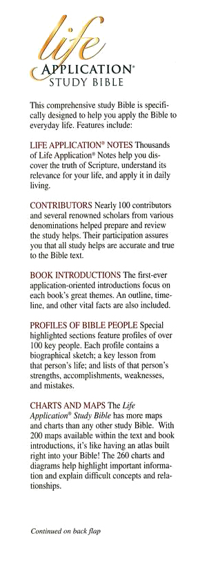 KJV Life Application Study Bible, Large Print, Hardcover