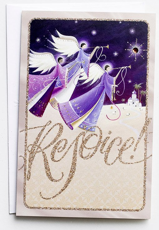 Angels Christmas Cards.Rejoice Angels Christmas Cards Box Of 18