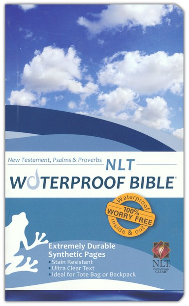 NLT Waterproof Bible New Testament with Psalms & Proverbs, Blue Wave
