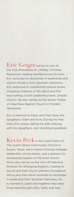 Designed To Lead The Church And Leadership Development Eric Geiger