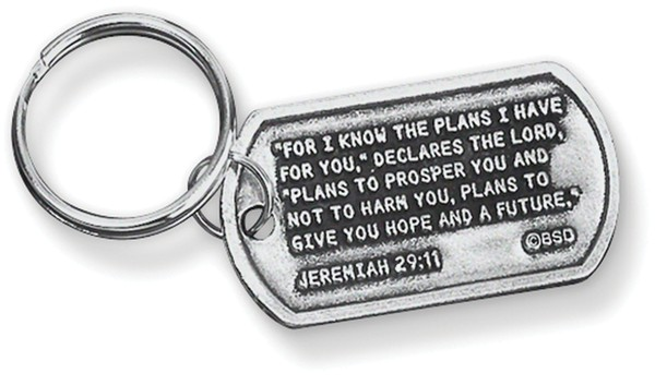 Jeremiah 29:11 Tag Key Ring
