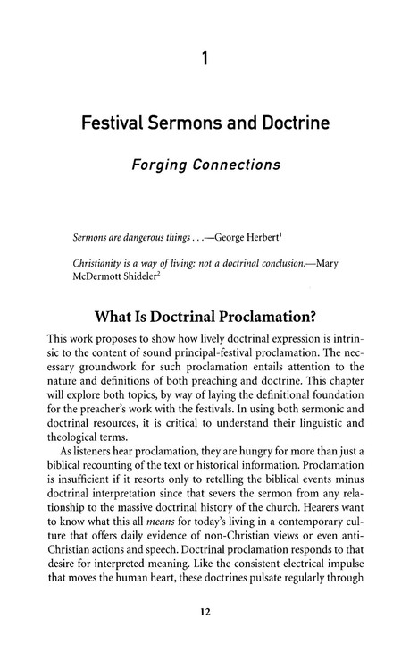 Proclamation and Celebration: Preaching on Christmas, Easter, and Other Festivals