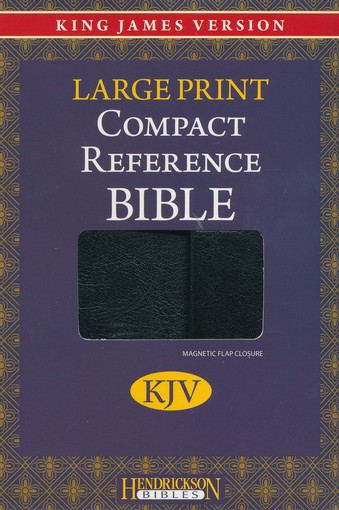 KJV Compact Large Print Reference Bible, Black Imitation Leather,  Magnetic Flap