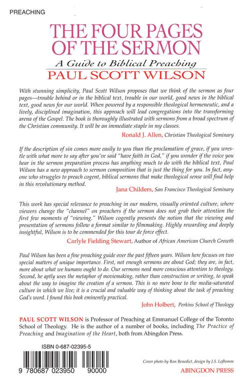 Four Pages Of The Sermon