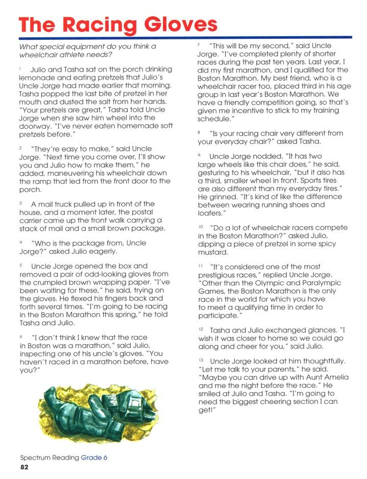 Spectrum Reading Grade 6 2014 Update