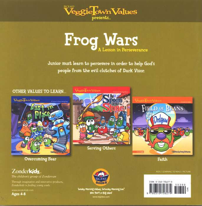 VeggieTown Values: Frog Wars, A Lesson in Perseverance