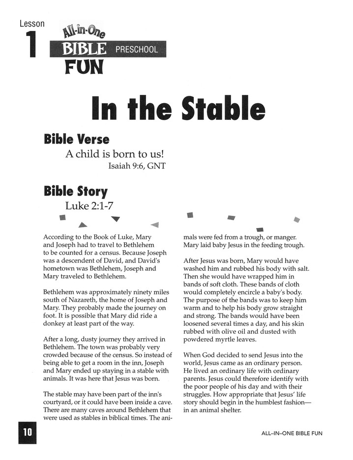 All-in-One Bible Fun: Stories of Jesus (Preschool edition)