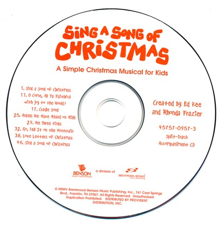 Sing A Song For Christmas Accompaniment CD