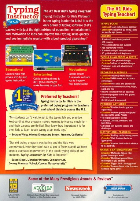 Typing Instructor For Kids Platinum On Cd Rom Christianbook Com