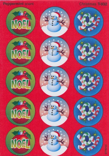 Christmas Scratch and Sniff Stickers