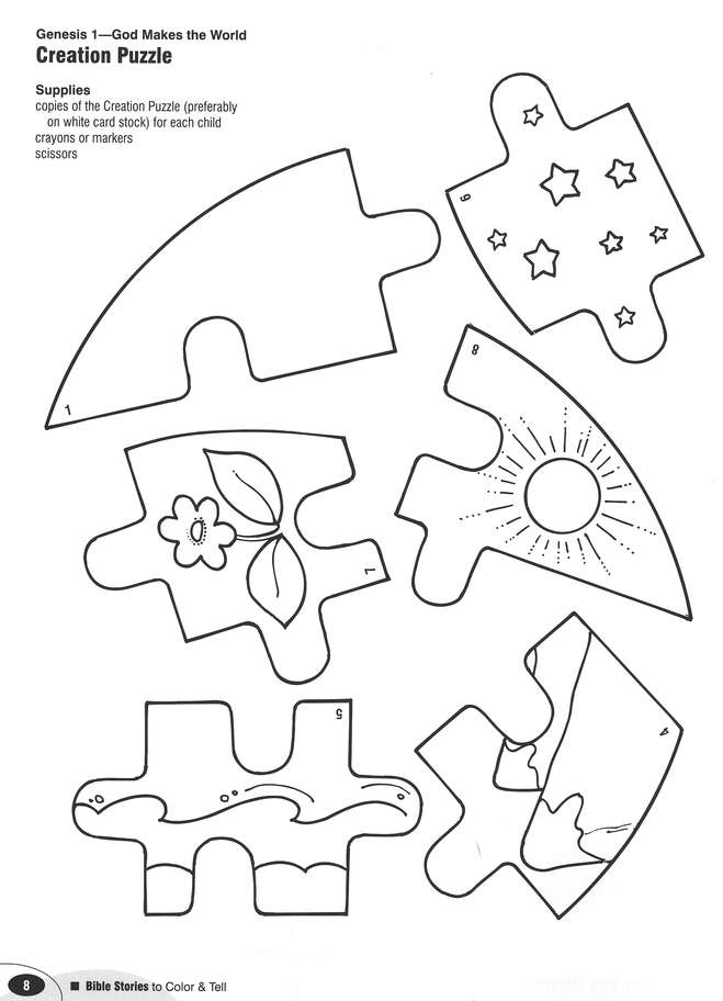 Bible Stories to Color and Tell (Ages 6-8)