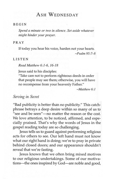 Daily Devotions for Lent, 2013