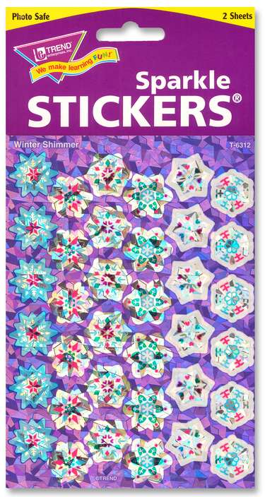 Winter Shimmer Sparkle Stickers