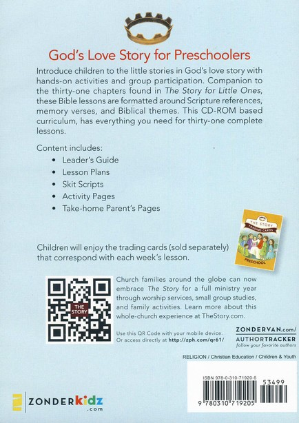 Story: Preschool Curriculum: 31 Lessons, CD-Rom