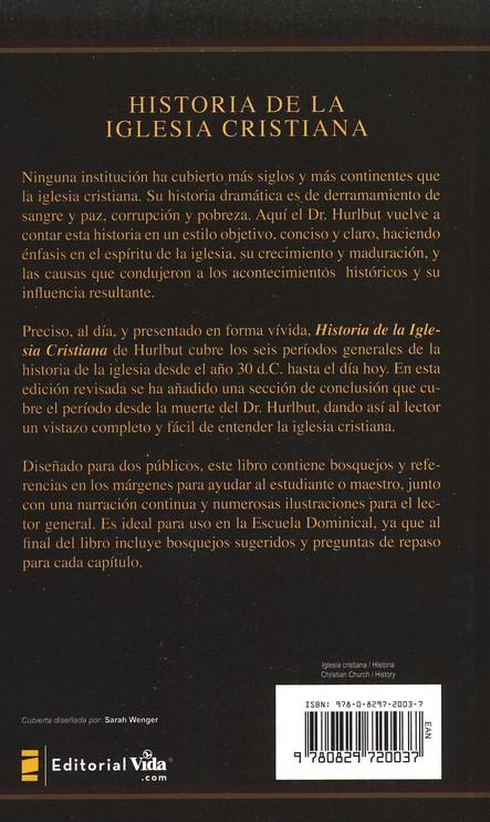 Historia de la Iglesia Cristiana (The Story of the Christian Church)