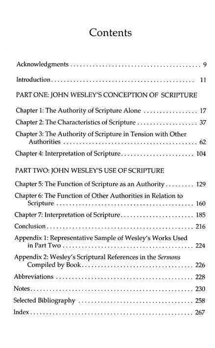 John Wesley's Conception & Use of Scripture