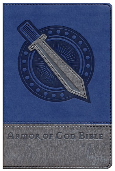 NIV Armor of God Bible, Italian Duo-Tone, Bold Blue/Silver