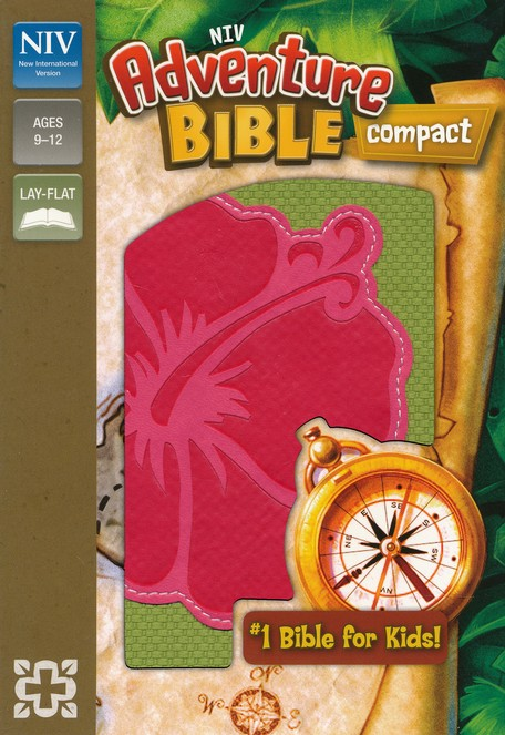NIV Adventure Bible, Green with Flower Design, Compact
