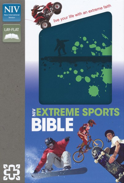 NIV Extreme Sports Bible, Italian Duo-Tone, Blue/Green
