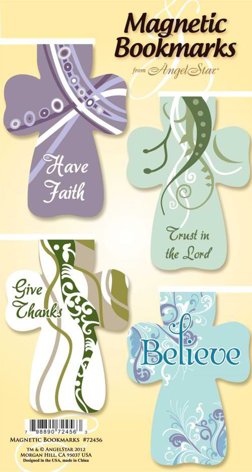 Inspirational Sayings--Magnetic Cross Bookmarks, Set of 4