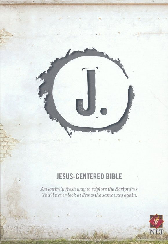 NLT Jesus Centered Bible, soft leather-look, charcoal