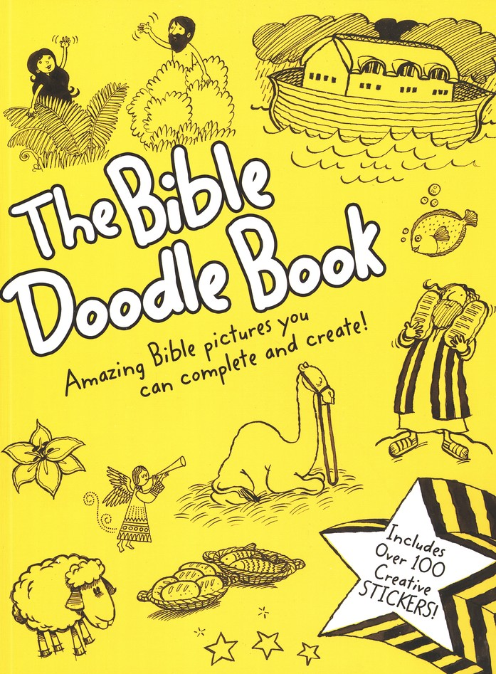 Bible Doodle Book: Amazing Bible Pictures You can Complete and Create