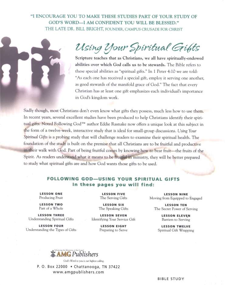 Following God Series: Using Your Spiritual Gifts
