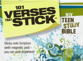 101 Verses that Stick for Teens based on the NIV Teen Study Bible: Bible Verses for Your Locker or Home, Sticky Notes