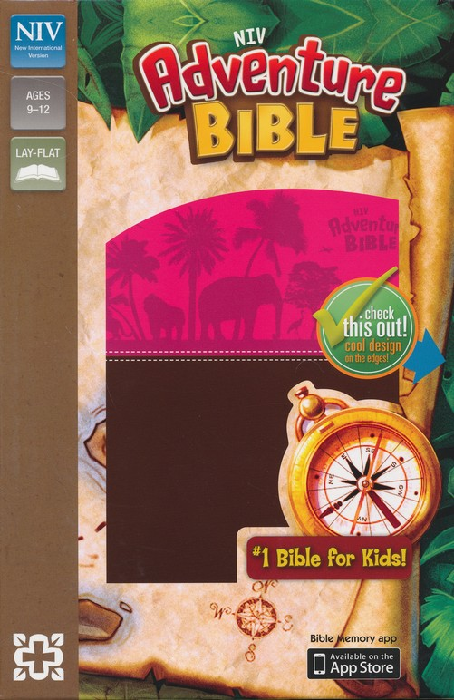NIV Adventure Bible, Italian Duo-Tone, Chocolate/Hot Pink