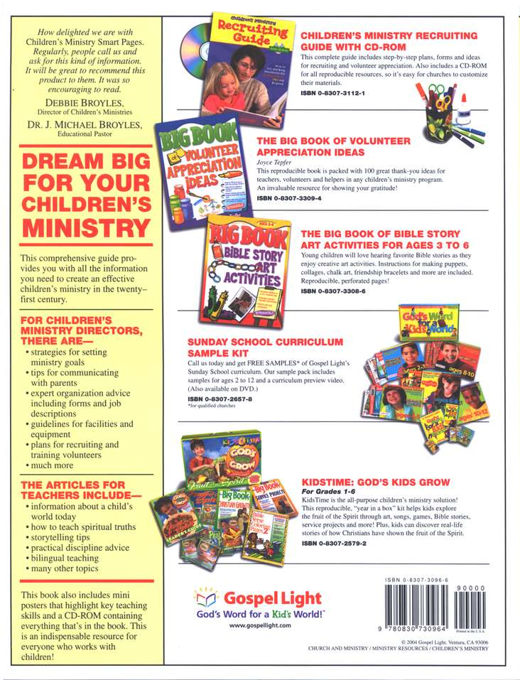 Children's Ministry Smart Pages w/CD-ROM