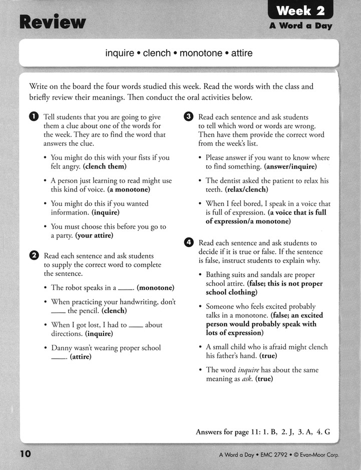 A Word A Day Grade 2 9781596734081 Christianbookcom