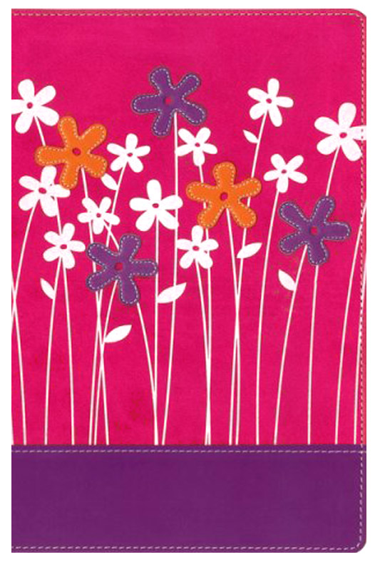 NIV Faithgirlz! Bible, Revised Edition, Italian Duo-Tone, Hot Pink / Petal Purple