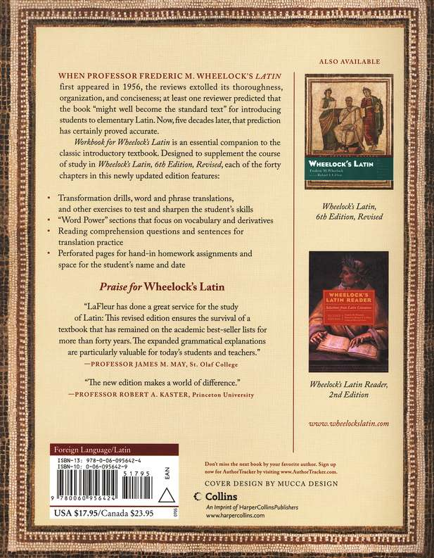 Workbook for Wheelock's Latin, Third Edition