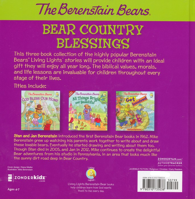 Living Lights: The Berenstain Bears, Bear Country Blessings