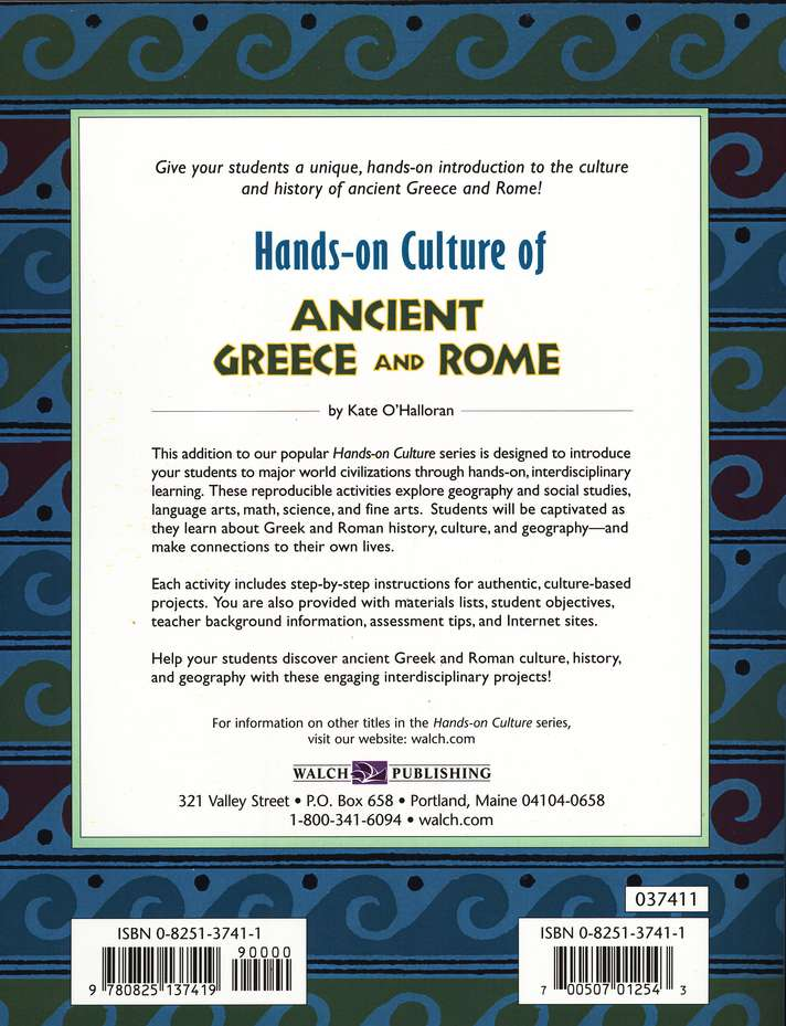 Hands-on Culture of Ancient Greece and Rome