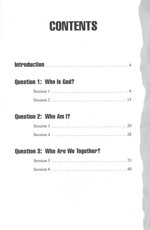 Three Simple Questions: Youth Student Book