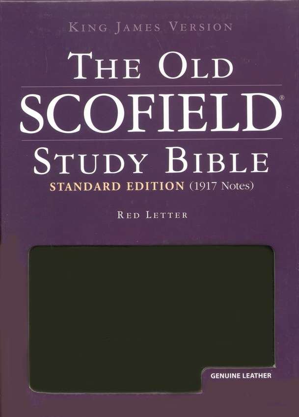 The Old Scofield Study Bible, KJV Standard Edition Genuine  Leather Black Thumb-Indexed