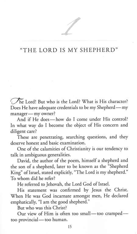 A Shepherd Looks at Psalm 23, large-print softcover