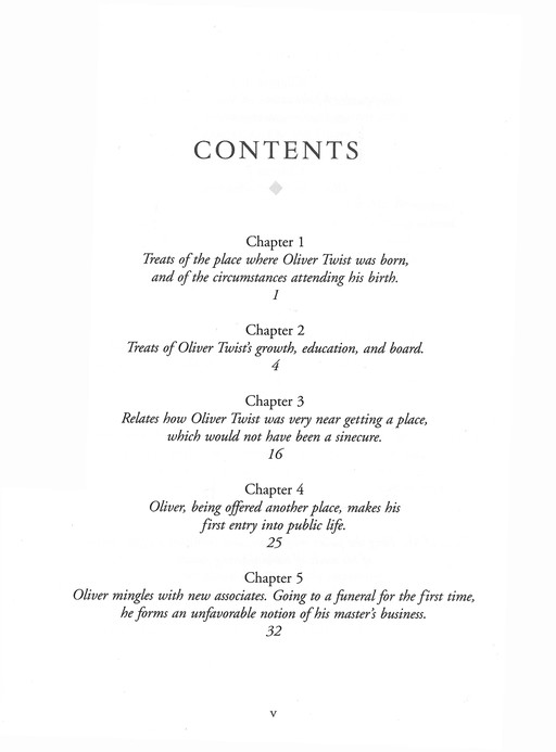 oliver twist chapter 1