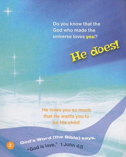 God Loves You! Salvation Booklet, Package of 20